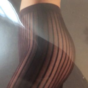 Wolford Stripes Tights. New. Small